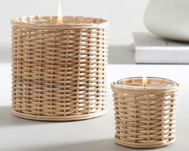 Handwoven Rattan Scented Candles - French Tuberose
