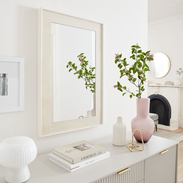 Margot Raffia & Lacquer Mirror