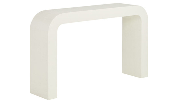 Laquered Linen Console