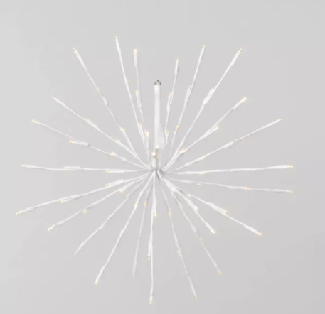 18in Metal Wire Starburst Warm White