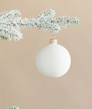 Matte Snow Glass Ornaments (Set of 6)