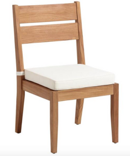 Natural Teak Calero Outdoor Dining Chairs Set Of 2