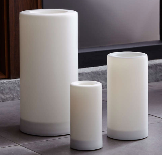 "Indoor/Outdoor 6""x12"" Pillar Candle with Timer"