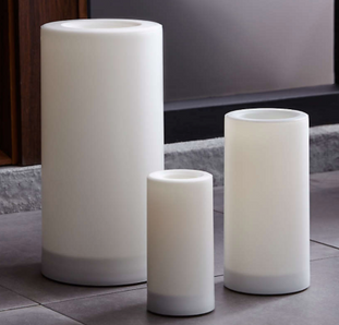 """Indoor/Outdoor 6""""x12"""" Pillar Candle with Timer"""