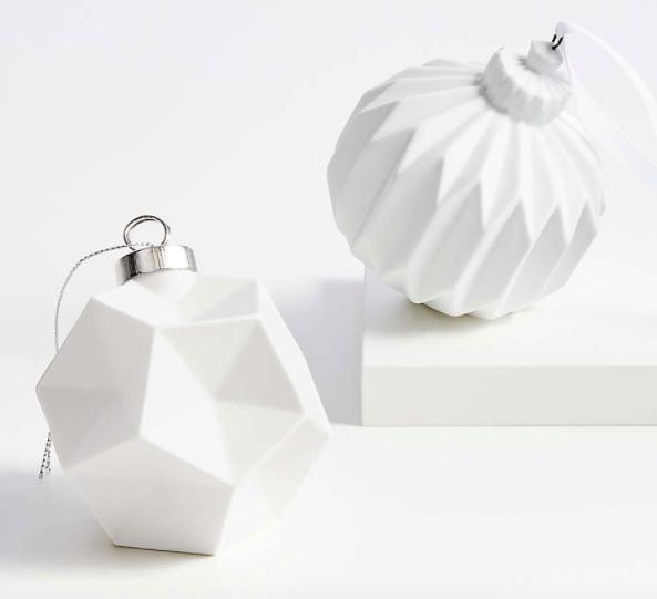 White Ceramic Ornaments