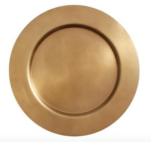 Bleecker Metal Charger Plate