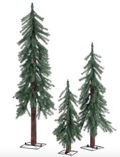 Artificial Unlit Alpine Trees, Set of 3