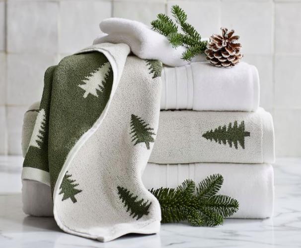 Pine Tree Organic Jacquard Towel