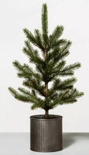 """22"""" Faux Potted Pine Tree"""