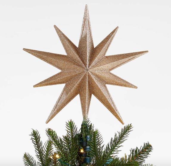 Gold Star Lit Tree Topper