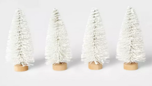 Bottle Brush Tree Set White
