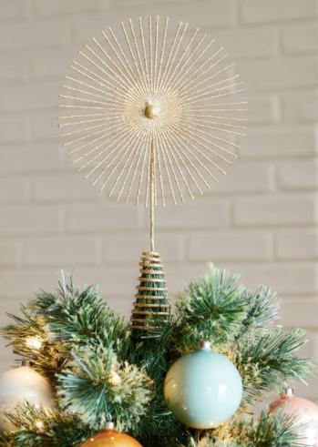 Glitter Starburst Tree Topper