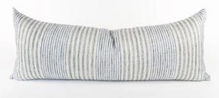 Blue Seagrass Bolster Pillow