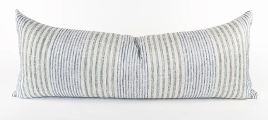 Blue Seagrass Bolster Pillow