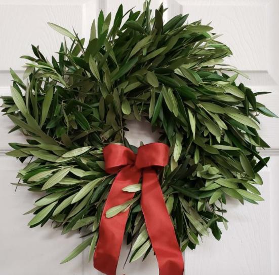 Fresh Olive Wreath