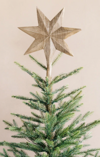 Carved 7 Point Star Tree Topper