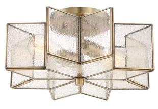 Brass Flushmount Light