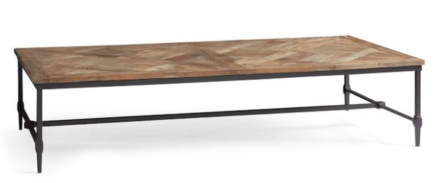 "Parquet 79"" Rectangular Reclaimed Wood Coffee Table"