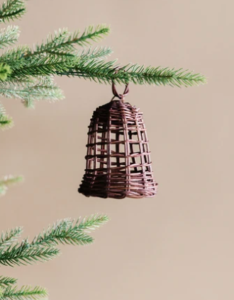 Rattan Woven Bell Ornament