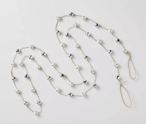 Jingle Bell Garland White & Silver