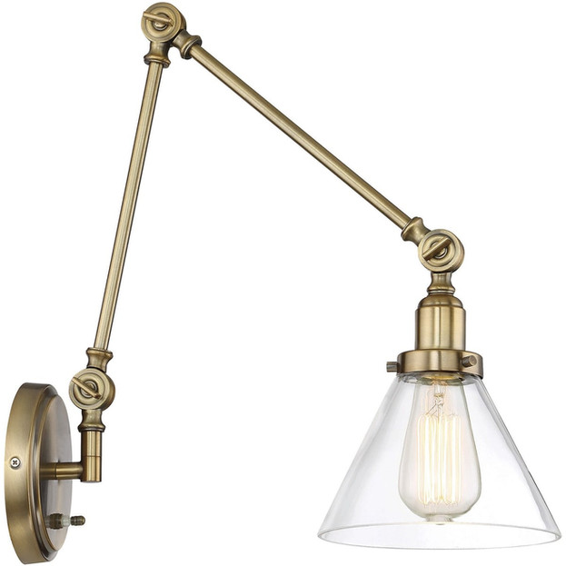 Brass Arm Sconce