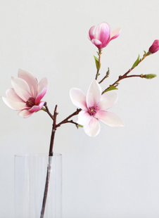 Artificial Magnolia Floral Branch in Pink