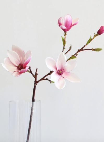 Artificial Magnolia Floral Branch in Pink
