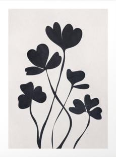 Clover Line Art Print