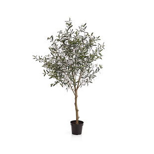 7' Faux Olive Tree