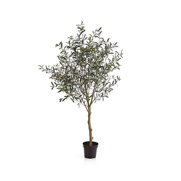 7' Faux Olive Tree