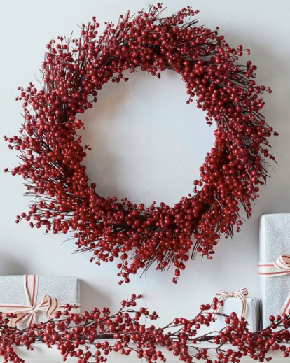 Faux Red Berry Wreath