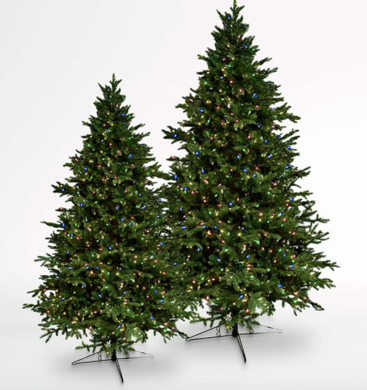 Barcana Alaskan Deluxe LED Christmas Trees with Colored Lights