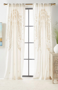 White Embroidered Reme Curtain