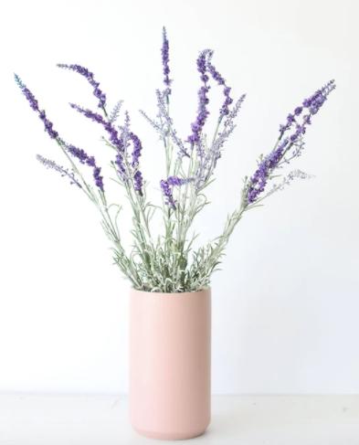 Fake English Lavender Bush in Purple