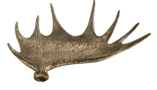 Rough Cast Metal Antler Decorative Object