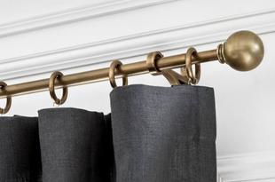 Brass Curtain Rod & Wall Bracket