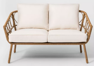 Outdoor Natural Loveseat