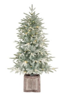 4.5 ft Pre-Lit Potted Artificial Christmas Tree
