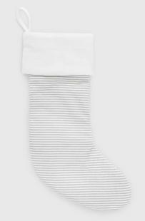 Gray & White Stripe Stocking