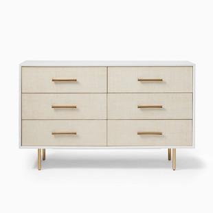 Margot Raffia 6-Drawer Dresser