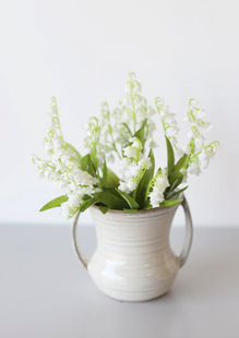 Lily of the Valley Silk Bush in White - 11.5""
