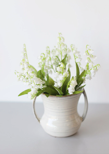 """Lily of the Valley Silk Bush in White - 11.5"""""""
