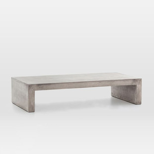 Concrete Waterfall Indoor/Outdoor Coffee Table