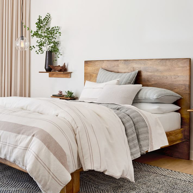 Hemp & Cotton Serene Stripes Duvet Cover & Shams
