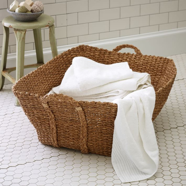 Braided French Laundry Basket