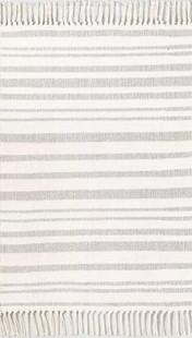 Stripe with Fringe Rug
