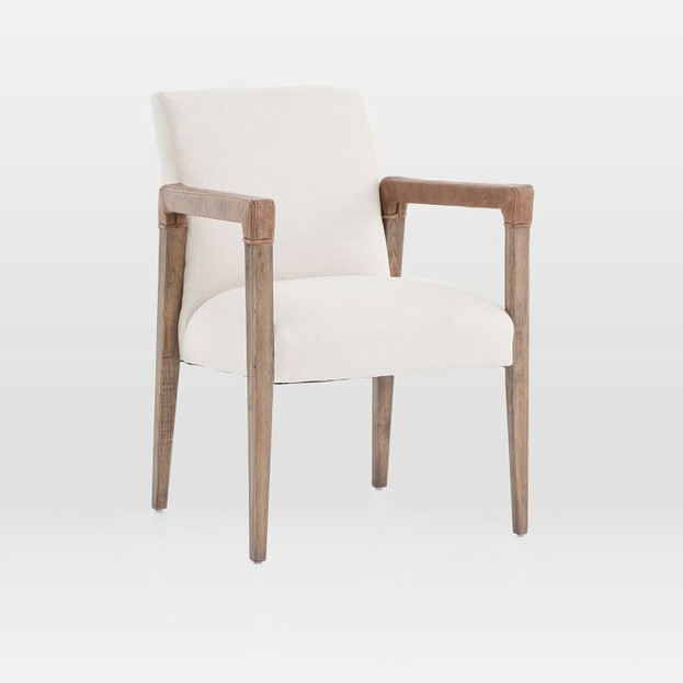 A-Frame Leather Accent Chair