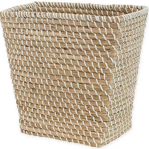 Natural Woven Wastebasket
