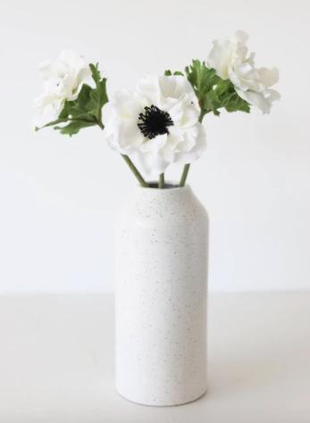 "White Silk Anemone - 14.5"""