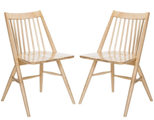 Natural Spindle Chair Set